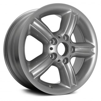"Replace® - 16"" Remanufactured 5 Fluted Spokes Bright Sparkle Silver Factory Alloy Wheel"