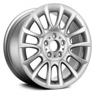 "Replace® - 18"" Remanufactured 7 V Spokes All Painted Bright Hyper Silver Factory Alloy Wheel"