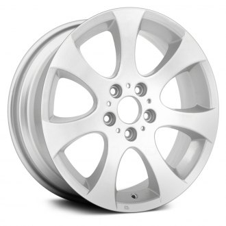 "Replace® - 18"" Remanufactured 7 Flared Spokes All Painted Silver Factory Alloy Wheel"