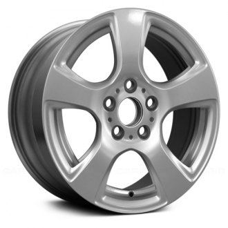 "Replace® - 17"" Remanufactured 5 Flat Spokes All Painted Silver Factory Alloy Wheel"