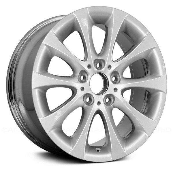 "Replace® - 17"" Remanufactured Front 10 V Spokes Aftermarket Chrome Factory Alloy Wheel"