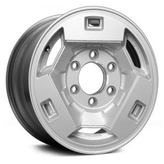"Replace® - 15"" Remanufactured 6 Slots Flat Silver Textured Factory Alloy Wheel"