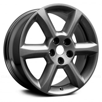 "Replace® - 18"" Remanufactured 6 Spokes Dark PVD Chrome Factory Alloy Wheel"