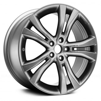 2014 nissan murano replacement factory wheels rims carid 2020 Nissan Murano Redesign replace 20x7 5 5 split spoke medium smoked hyper silver alloy factory