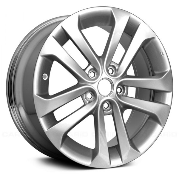 "Replace® - 17"" Remanufactured 5 Double Spokes Light PVD Chrome Factory Alloy Wheel"