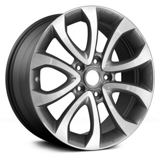 2014 nissan juke replacement factory wheels rims carid Nissan Juke S replace 17x7 10 spoke charcoal gray alloy factory wheel remanufactured