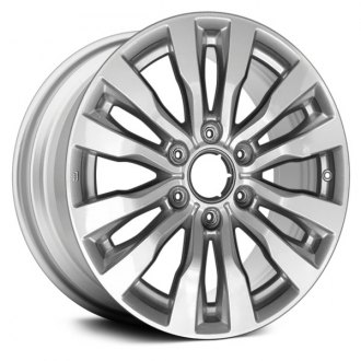 2017 nissan armada replacement factory wheels rims carid 2018 Toyota Sequoia Interior replace 18x8 12 spoke all painted bright silver alloy factory wheel remanufactured