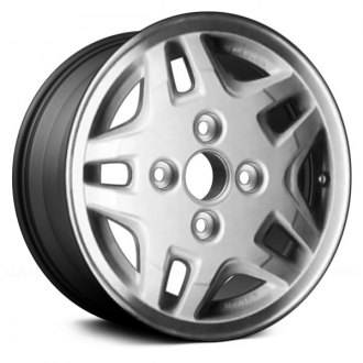 "Replace® - 14"" Remanufactured 10 Spokes Machined with Charcoal Vents Factory Alloy Wheel"