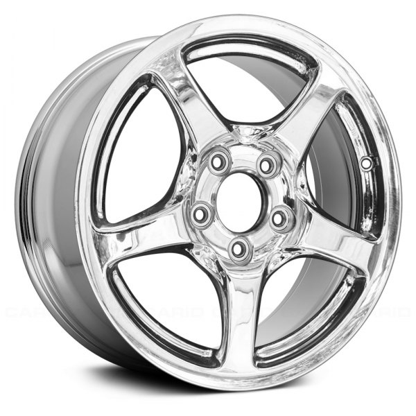 "Replace® - 16"" Remanufactured Rear 5 Spokes Light PVD Chrome Factory Alloy Wheel"