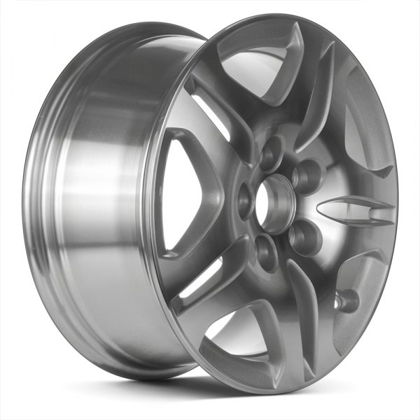"Replace® - 16"" Remanufactured 10 Spokes Sparkle Silver Textured Machined Factory Alloy Wheel"