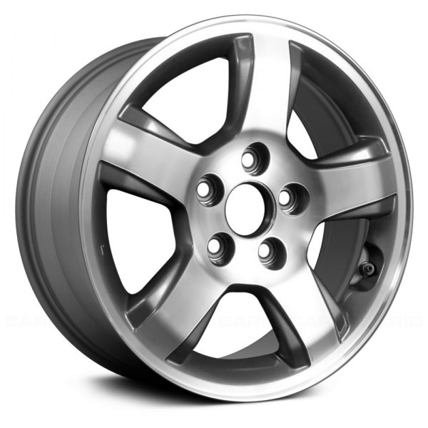 "Replace® - 16"" Remanufactured 5 Spokes Medium Gray Factory Alloy Wheel"