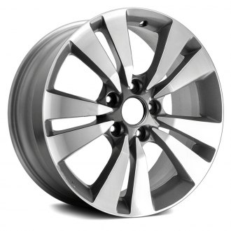"Replace® - 17"" 5 V Spokes Machined Charcoal Textured Factory Alloy Wheel"