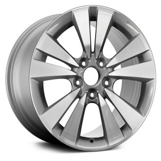 "Replace® - 17"" Remanufactured 5 V Spokes Machined and Medium Silver Metallic Textured Factory Alloy Wheel"