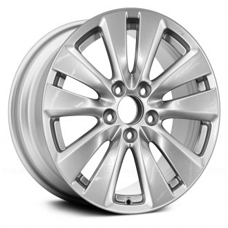 "Replace® - 17"" Replica 5 Double Spokes Sparkle Silver Full Face Factory Alloy Wheel"