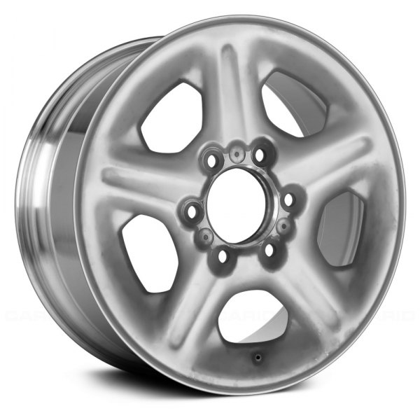 "Replace® - 16"" Remanufactured 5 Spokes Bright Polished Factory Alloy Wheel"