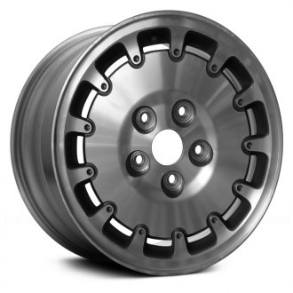 "Replace® - 14"" Remanufactured 13 Slats Charcoal Silver Factory Alloy Wheel"