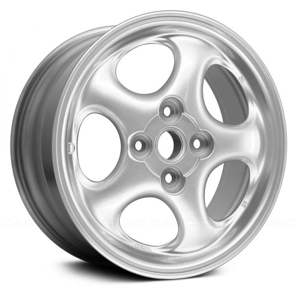 "Replace® - 14"" Remanufactured 5 Holes Sparkle Silver Textured Factory Alloy Wheel"