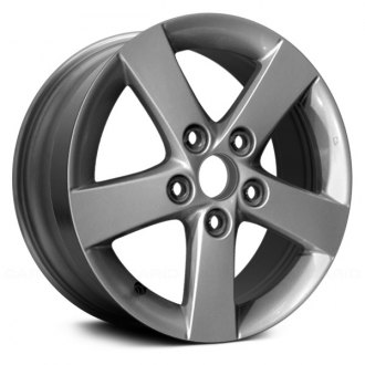 "Replace® - 15"" 5 Spokes Silver Factory Alloy Wheel"