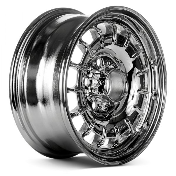 "Replace® - 14"" Remanufactured 15 Slots Chrome Factory Alloy Wheel"