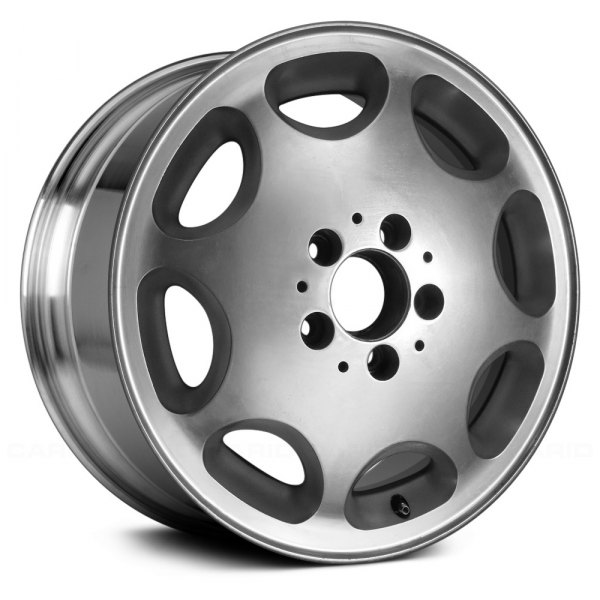 "Replace® - 16"" Remanufactured 8 Oval Vents Polished with Silver Painted Slot Factory Alloy Wheel"