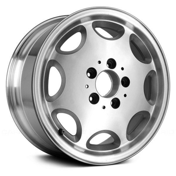 "Replace® - 15"" Remanufactured 8 Holes Polished with Silver Pockets Factory Alloy Wheel"