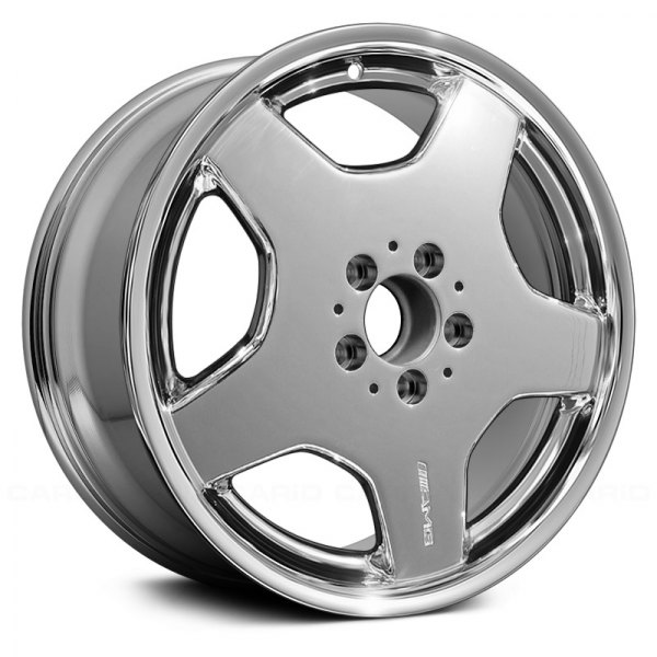 "Replace® - 18"" Remanufactured Front 5 Spokes Light PVD Chrome Factory Alloy Wheel"