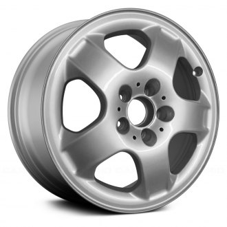 "Replace® - 17"" Remanufactured 5 Spokes Bright Sparkle Silver Face Factory Alloy Wheel"