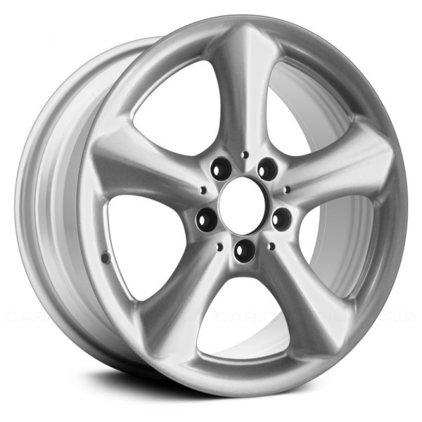 "Replace® - 17"" Remanufactured Front 5 Spokes Sparkle Silver Factory Alloy Wheel"