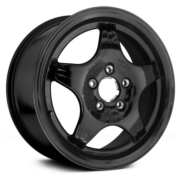 "Replace® - 16"" Remanufactured 5 Spokes Black Factory Alloy Wheel"
