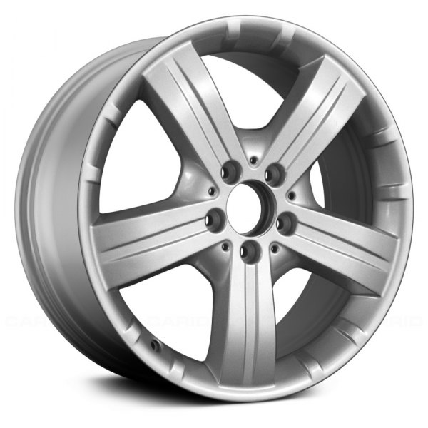 "Replace® - 18"" Remanufactured Rear 5 Spokes All Painted Silver Factory Alloy Wheel"