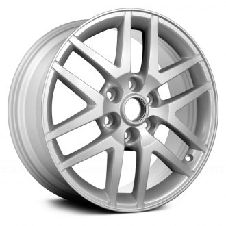 2005 saab 9 7x replacement factory wheels rims carid 2005 Saab 9-7X replace 18x8 6 double spoke silver alloy factory wheel remanufactured