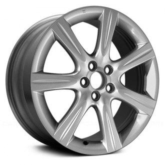 subaru impreza replacement factory wheels rims carid 08 Subaru Impreza Wagon replace 17x7 7 spoke silver alloy factory wheel remanufactured
