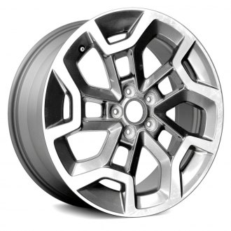 Replace 17x7 15 Vent Machined And Dark Charcoal Metallic Textured Alloy Factory Wheel