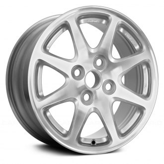 2002 toyota prius replacement factory wheels rims carid  replace 14x5 5 8 spoke medium charcoal alloy factory wheel remanufactured