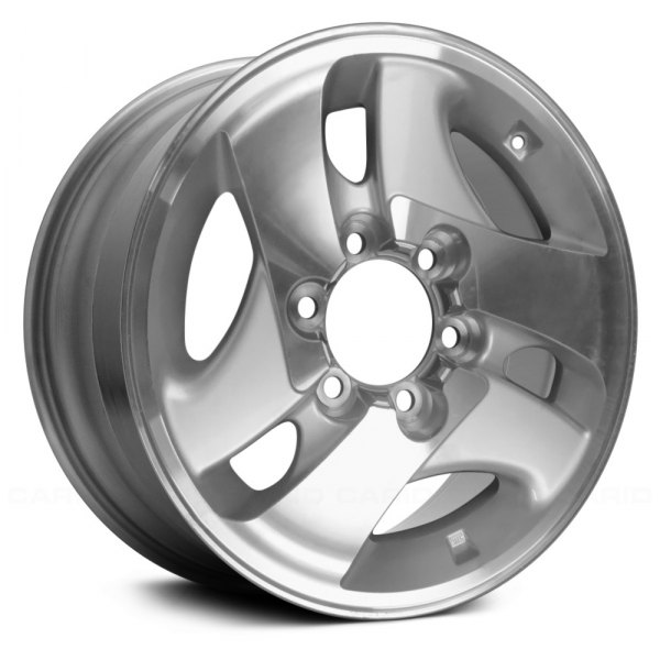"Replace® - 16"" Remanufactured 6 Spokes Medium Silver Acrylic Textured Factory Alloy Wheel"