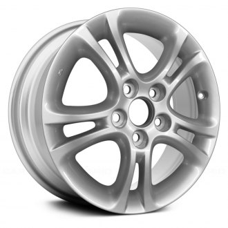 "Replace® - 16"" Remanufactured 5 Double Spokes Silver Factory Alloy Wheel"