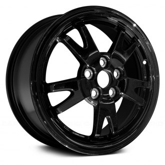 Replace 15x6 5 Double Spoke All Painted Black Alloy Factory Wheel Remanufactured