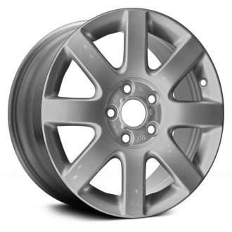 "Replace® - 16"" Remanufactured 8 Spokes All Silver with Outer Edge Machined Factory Alloy Wheel"