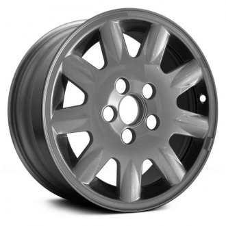 "Replace® - 15"" Remanufactured 9 Spokes Sparkle Silver Factory Alloy Wheel"
