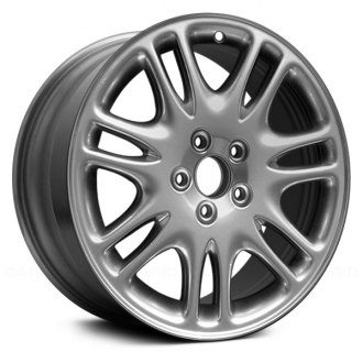 "Replace® - 17"" Remanufactured 7 Double Spokes Hyper Silver Factory Alloy Wheel"