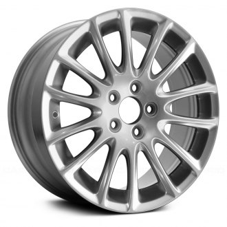 "Replace® - 17"" Remanufactured 14 Spokes All Painted Bright Silver Factory Alloy Wheel"
