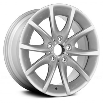 "Replace® - 17"" Remanufactured 5 V Spokes All Painted Silver Factory Alloy Wheel"