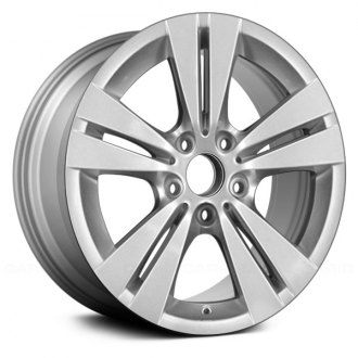 "Replace® - 17"" Remanufactured 5 Double Spokes All Painted Silver Factory Alloy Wheel"