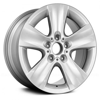 "Replace® - 17"" Remanufactured 5 Spokes Silver Metallic Face Factory Alloy Wheel"