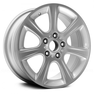 "Replace® - 17"" Remanufactured 7 Spokes All Painted Bright Silver Metallic Factory Alloy Wheel"