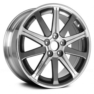2013 acura tl replacement factory wheels rims carid 2014 Acura TSX replace 19x8 10 spoke bright polished alloy factory wheel remanufactured