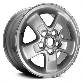 "Replace® - 16"" Remanufactured 5 Flat Spokes Silver Factory Alloy Wheel"
