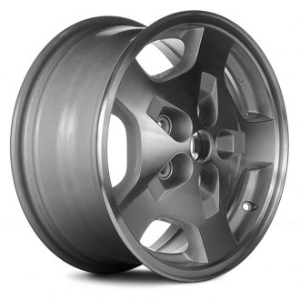 "Replace® - 16"" Remanufactured 5 Spokes Machined and Silver Factory Alloy Wheel"