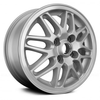 "Replace® - 15"" Remanufactured 16 Spokes Machined Lip with Silver Spokes Factory Alloy Wheel"
