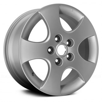 Replace® - 16x6.5 5-Spoke Silver Alloy Factory Wheel (Remanufactured)